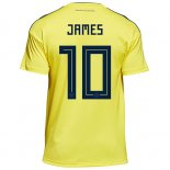 Camiseta Colombia James Primera 2018 2019