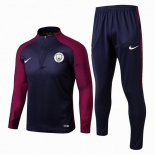Sudaderas Manchester City 2017 2018 Blue Red